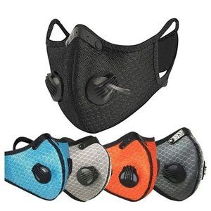2 Pcs Sports masks with 2 valves